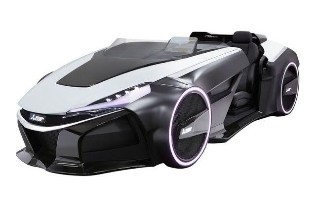 El  Mitsubishi EMIRAI EV  un impresionante coche futurista  conceptual