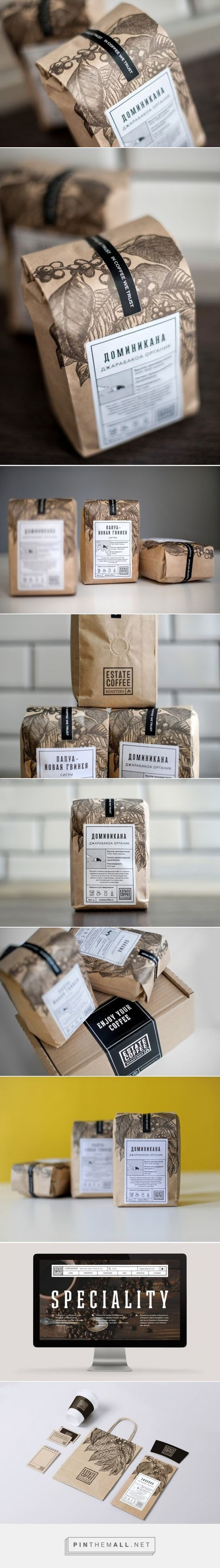Estate Coffee Roasters packaging designed by AHEAD (Russia) - http://www.packagingoftheworld.com/2016/02/estate-coffee-roasters.html