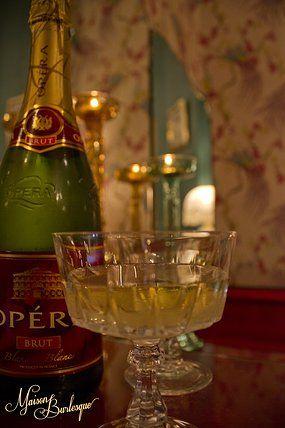 Maison Burlesque | Burlesque Boudoir and Studio based in Melbourne, Australia. Vintage champagne glass.