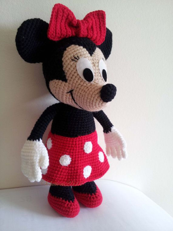 Minnie Mouse  Handmade crochet doll birthday gift by Solutions2511