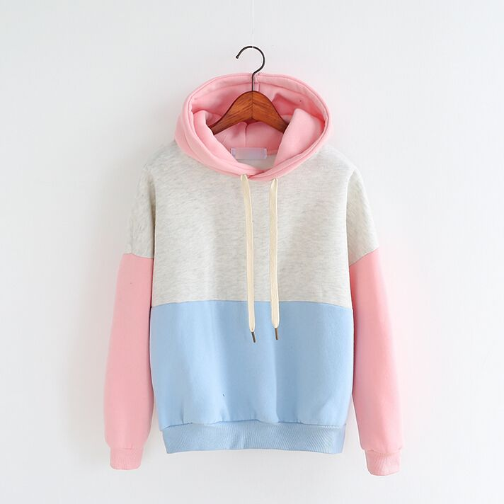 Color Block Hoodie from WomenFashion