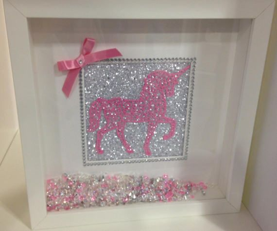 Be A Unicorn Deep Box Frame by justforyouboutiques on Etsy