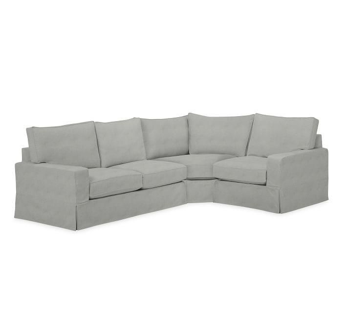 Recliner Sofa PB Comfort Square Arm Left Arm Piece Wedge Sectional Slipcover