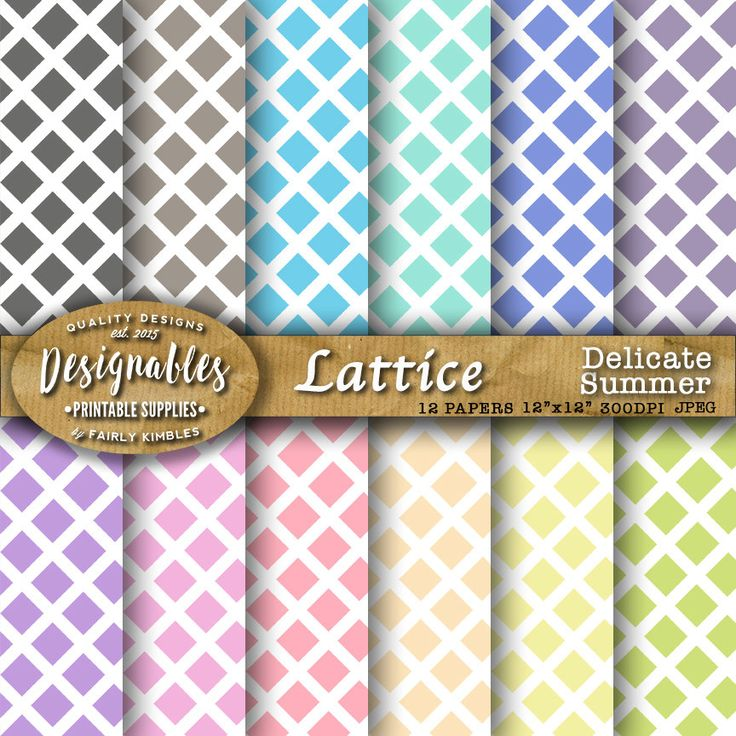 Lattice Pattern, Lattice Papers, Lattice Backgrounds, Printable Papers in Lattice pattern, 12x12, Digital Paper Pack, Commercial License by DesignableSupplies on Etsy