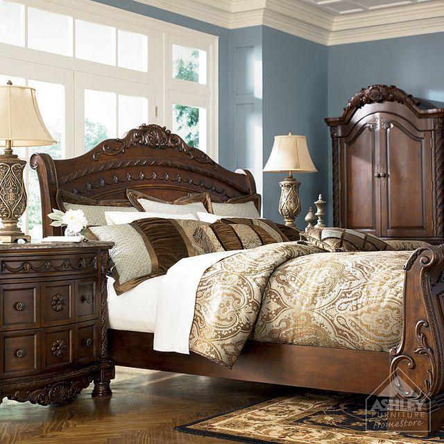 create a grand look fit for royalty with the rich traditional design and exquisite details of the north shore bedroom collection shop now at afw