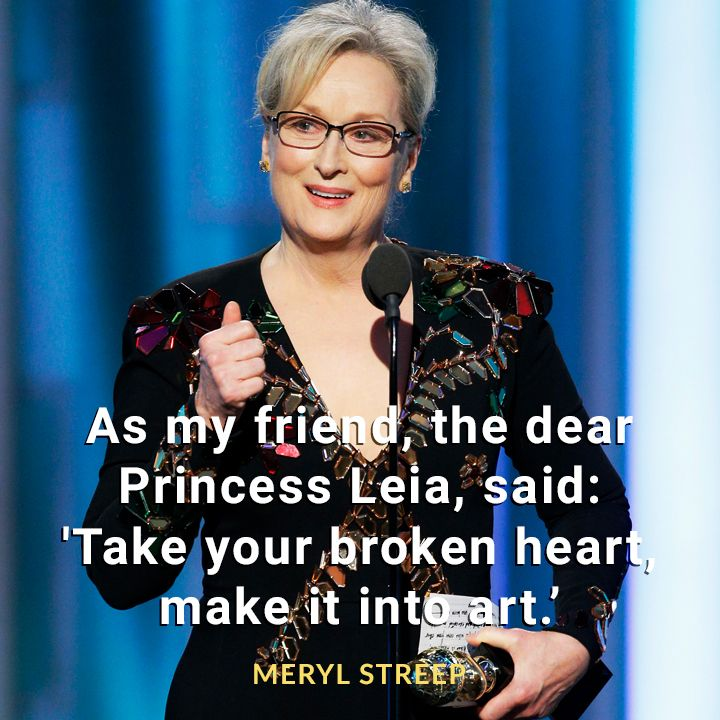 Meryl Streep  #goldenglobes2017 #quotes