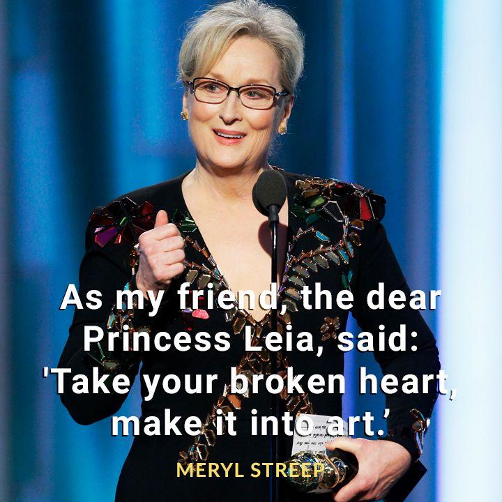 Meryl Streep #goldenglobes2017 #quotes
