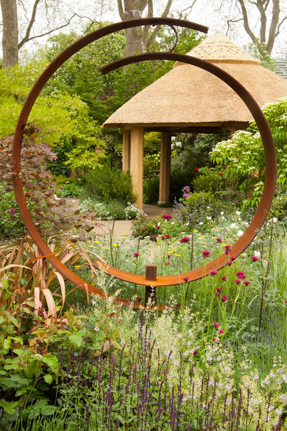 Chelsea Flower Show 2013 The M&G Centenary Garden Windows Through Time, designed by Roger Platts