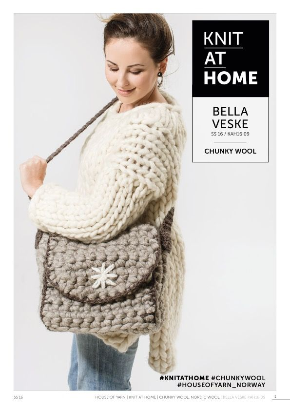 16-09 BELLA VESKE | free crocheting pattern | crocheted bag | crocheted purse | crochet pattern | chunky crochet