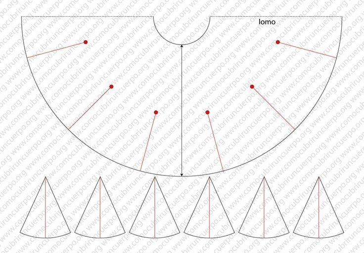 Patrón faldas de flamenco: tipos de vuelo