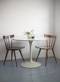 tulip table mccobb chairs