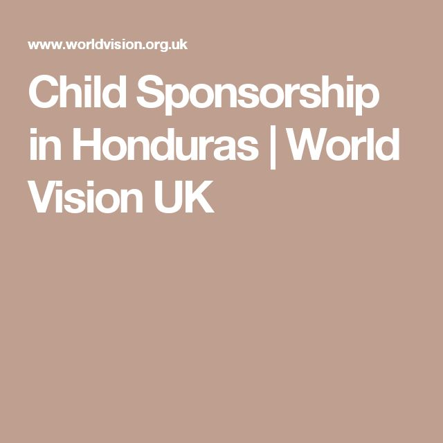 Child Sponsorship in Honduras | World Vision UK