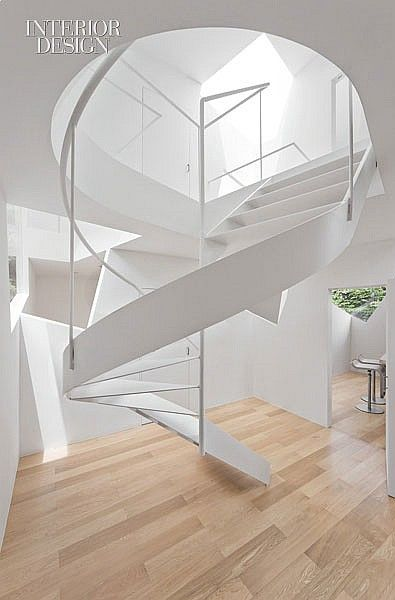 Cube Theory   Stair treads are 1/4 inch thick. #design #interiordesign #interiordesignmagazine #projects #kitchenandbath #staircases