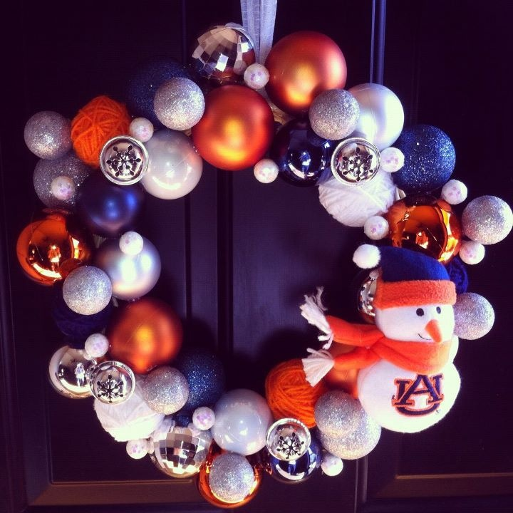 Another Version of the Auburn Wreath @Kristen Clark