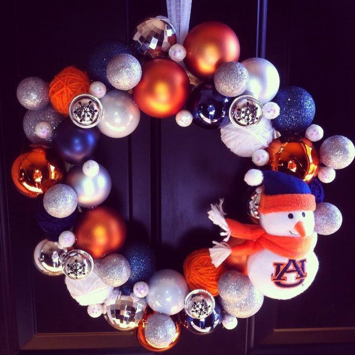Another Version of the Auburn Wreath @Kristen Clark