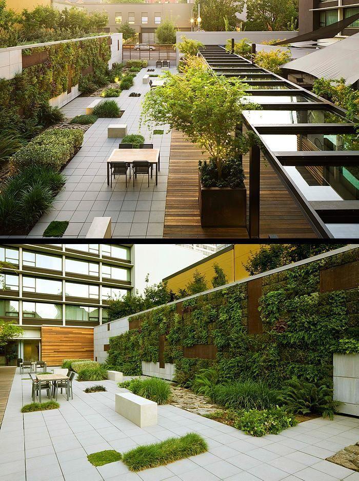 73 Best Roof Terrace Images On Pinterest Roof Garden Design Terraced Landscaping Rooftop Design