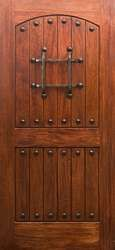 Wine Cellar Doors -    Mahogany RM1 Rustic Knotty Door