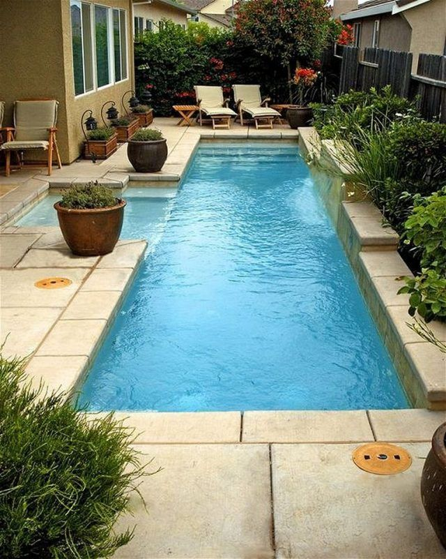 50 Stunning Tropical Home Design With Mini Pool Home Homedesign Minipoodle Small Pool Design Backyard Pool Designs Small Backyard Pools