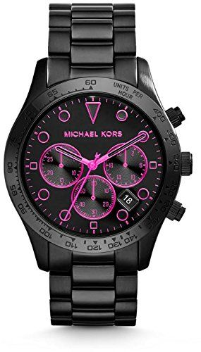Michael Kors Layton Chronograph Black Dial Steel Mens Watch MK6082