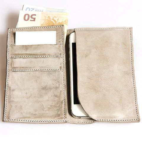 CHEQUE - Leather iPhone Wallet