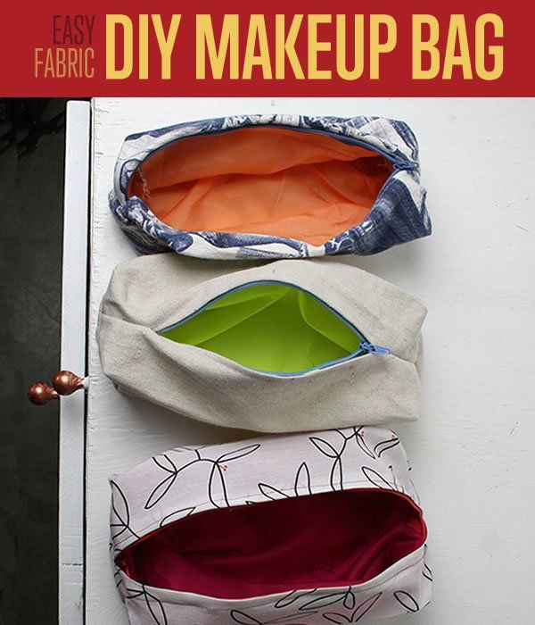 How To Sew A DIY Makeup Bag   Easy Sewing Patterns   Projects