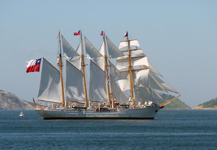 La Esmeralda: buque escuela de la Armada de Chile. Saw her in Victoria Harbour.