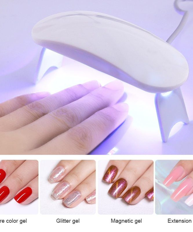 6w Mini White Nail Dryer Led Uv Lamp Micro Usb Gel Varnish Dryer Curing Uv Gel Machine For Home Use Nail Art Design Tools In 2020 Nail Dryer Uv Nails Gel Nails
