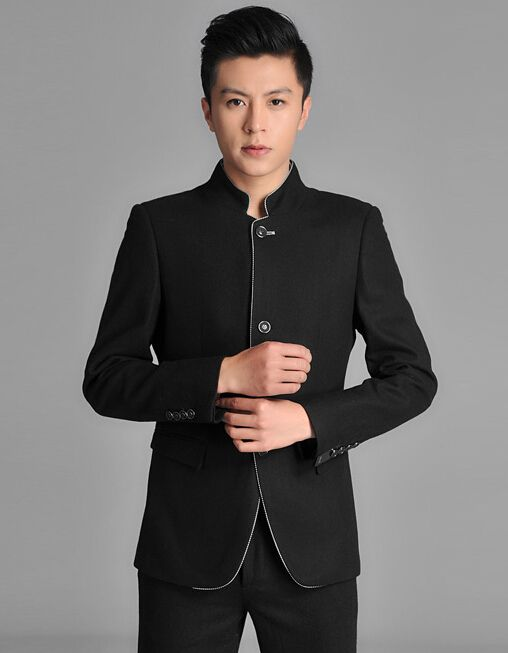 Find More Information about ( Jacet + pants ) 2014 New Men suits chinese tunic suit school wear slim groom married formal chinese style stand collar,High Quality suit handkerchief,China suit gold Suppliers, Cheap suit sample from Ssang SUIT shop on Aliexpress.com