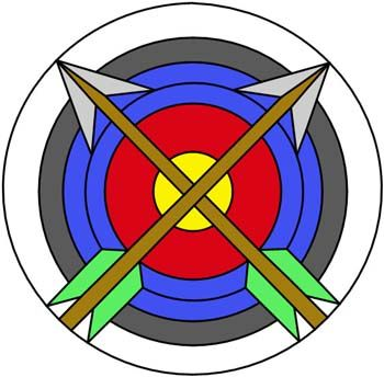 Archery color key from Darryl's Stained Glass Patterns