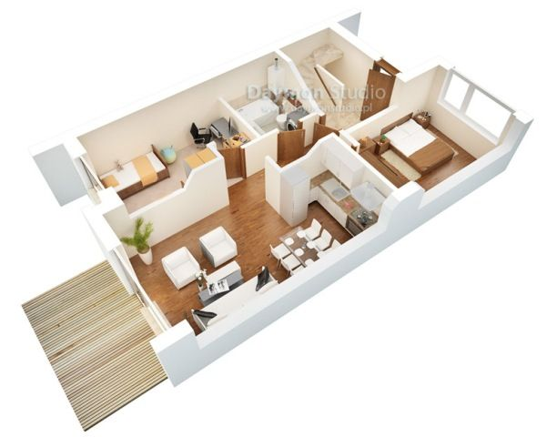 Best Floor Plan Images On Pinterest Architecture Small - Small house design 3d 2 bedrooms