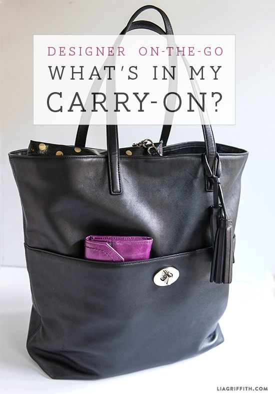 Designer On-The-Go: What's in My Carry-On