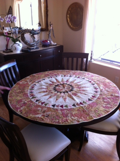 15 Best Round Quilted Tablecloths Images On Pinterest
