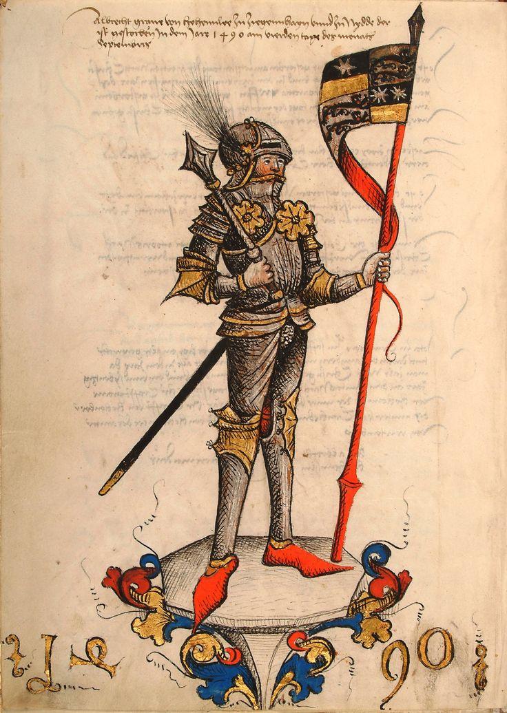 Graf Albrecht von Hohenlohe und Ziegenhain, 1490 [Landesarchiv HZAN].