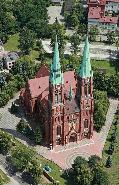 The Basilica of St Anthony in Rybnik, Southern Poland