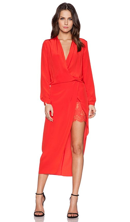Red dress revolve yeezy