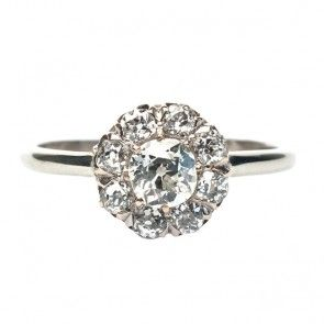 vintage diamond cluster ring