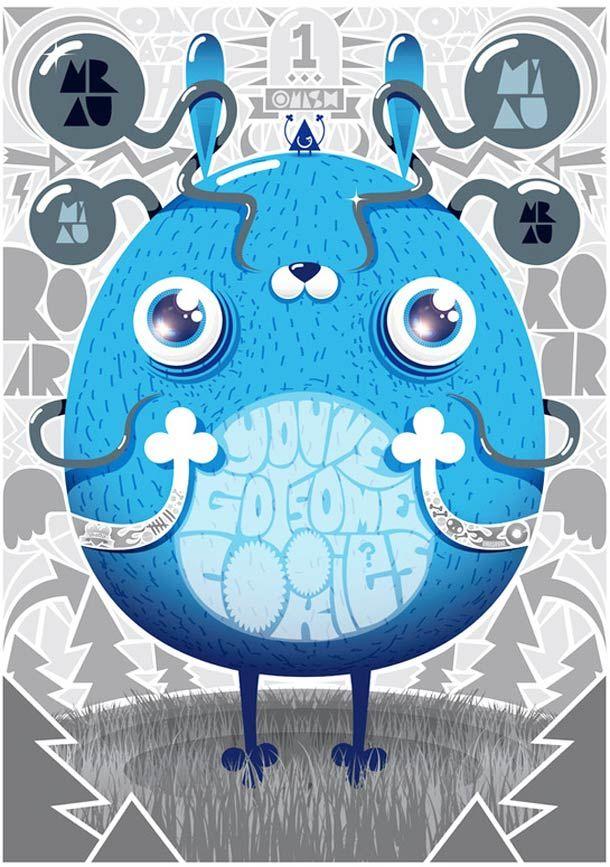 illustrations de l'artiste / graphic designer polonaisOMASH ONE.