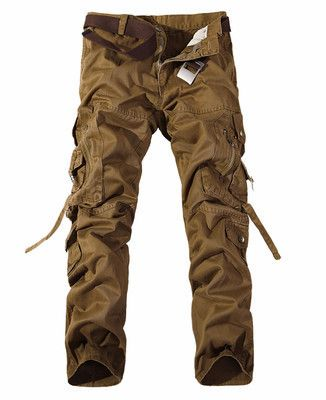 Men Cargo Pants army green big pockets