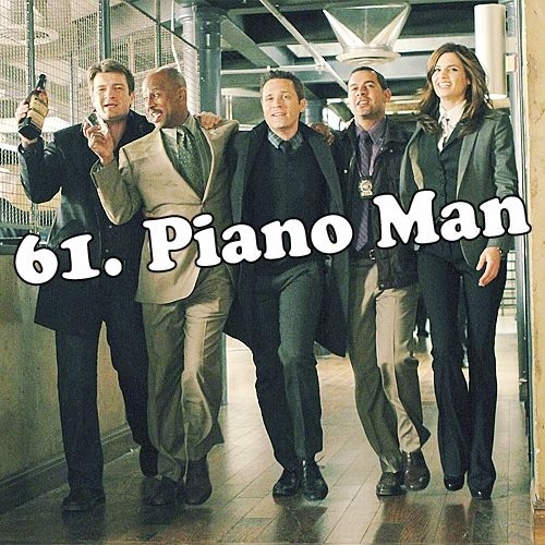 "Castle, Montgomery, Ryan, Esposito, and Beckett singing ""Piano Man"" on their way to The Old Haunt to have drinks in the 'Last Call' episode of Castle."
