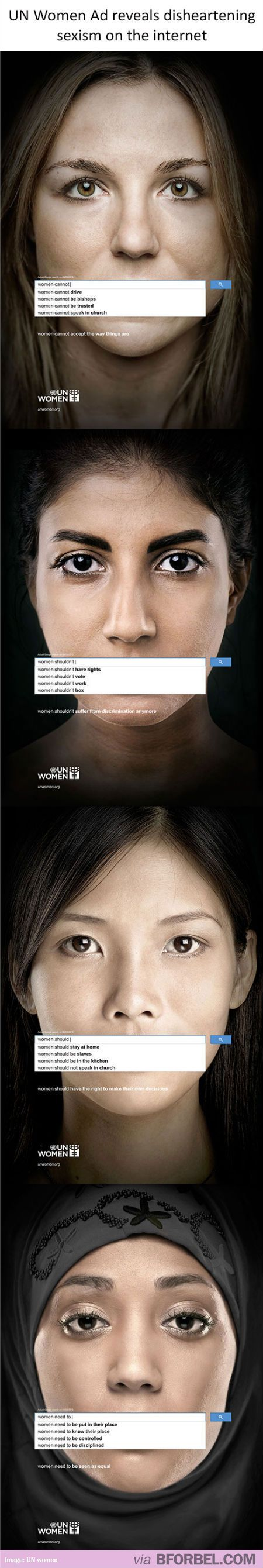 UN Women's Ad reveals disheartening sexism on the internet…