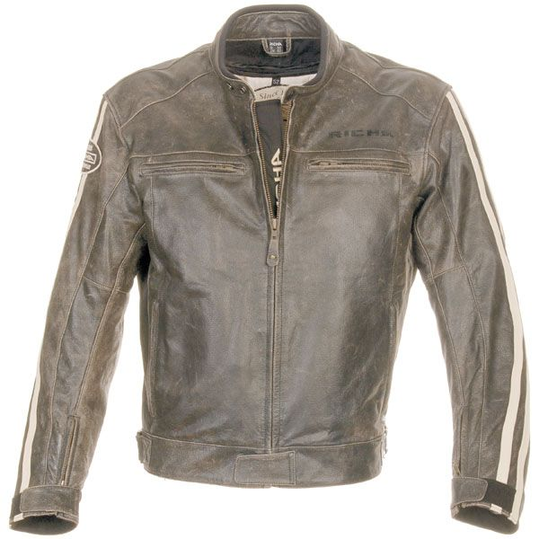 Richa Retro Racing Leather Motorcycle Jacket Brown | eBay