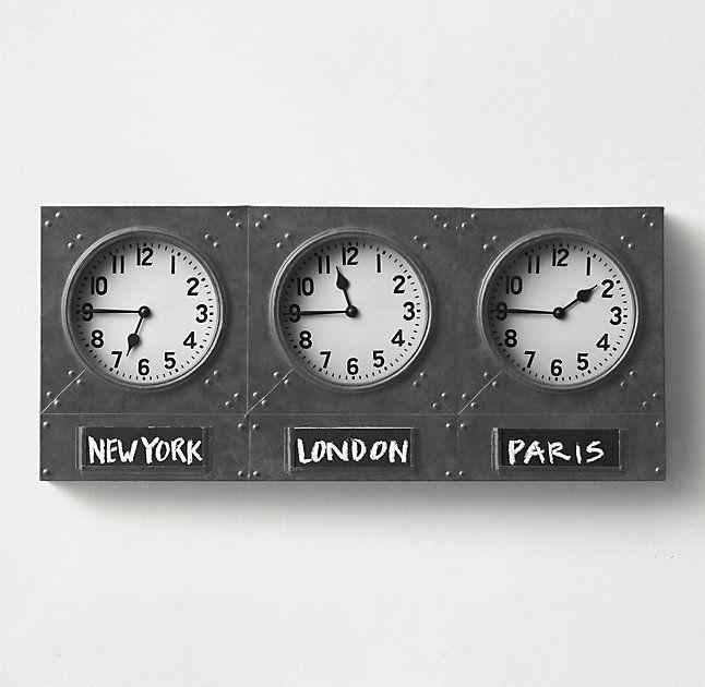 Best 25 Time Zone Clocks Ideas On Pinterest