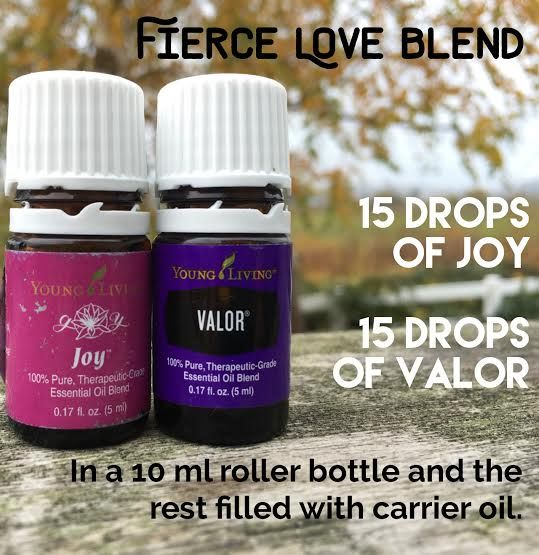 Young Living Essential oil roller bottle blend. This combo of joy and valor smells amazing and lifts your spirits!