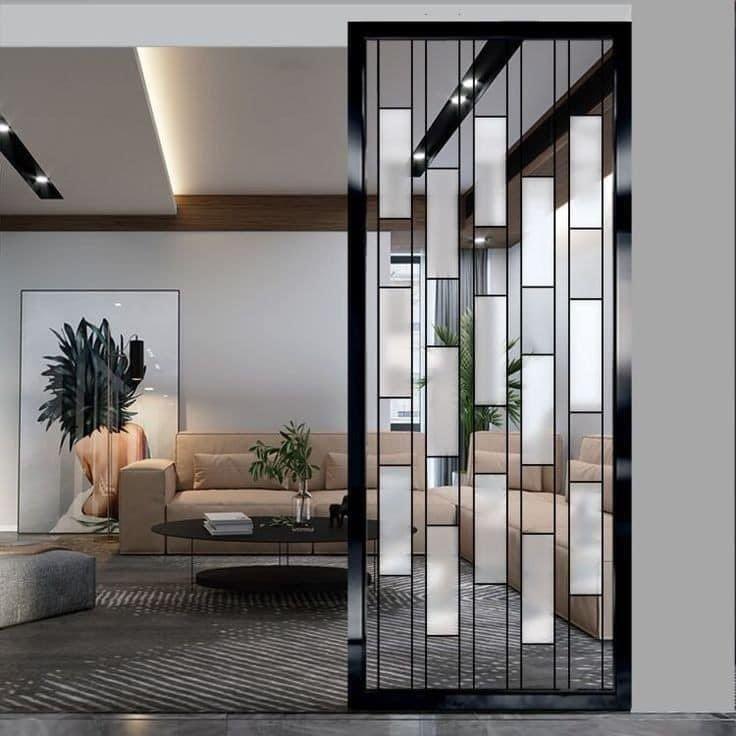 ابتكارات منزلية On Twitter In 2021 Living Room Partition Design Wall Partition Design Living Room Partition Glass partition for living room