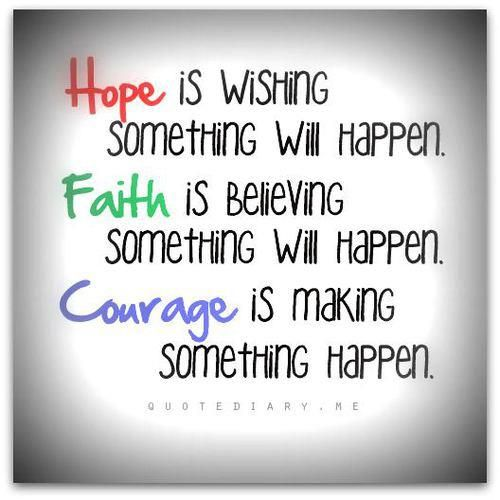 Courage In Love Quotes: Quotes About Hope And Courage. QuotesGram