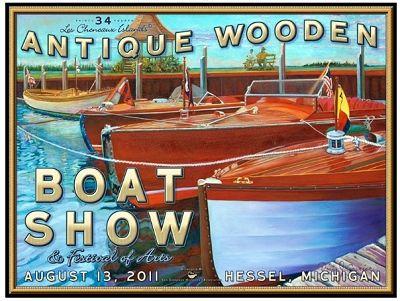Hessel Antique Wooden Boat Show Poster, 2011 Michigan Classics