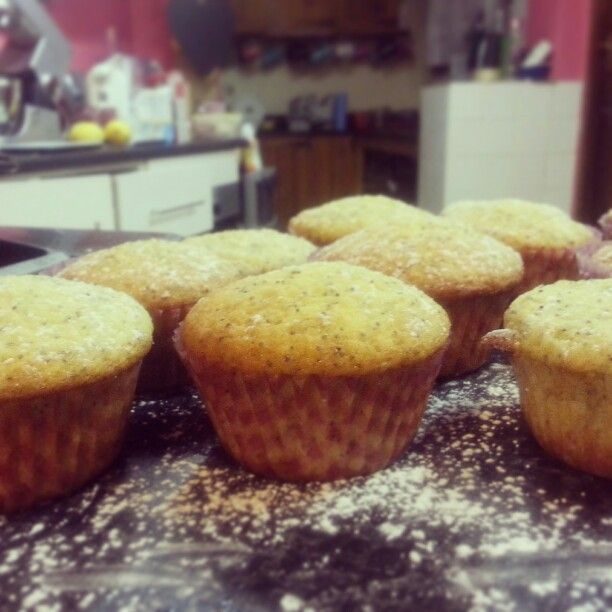 #GlutenFree lemon and poppy seed muffins
