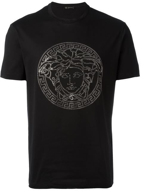 VERSACE Embellished Medusa T-Shirt. #versace #cloth #t-shirt