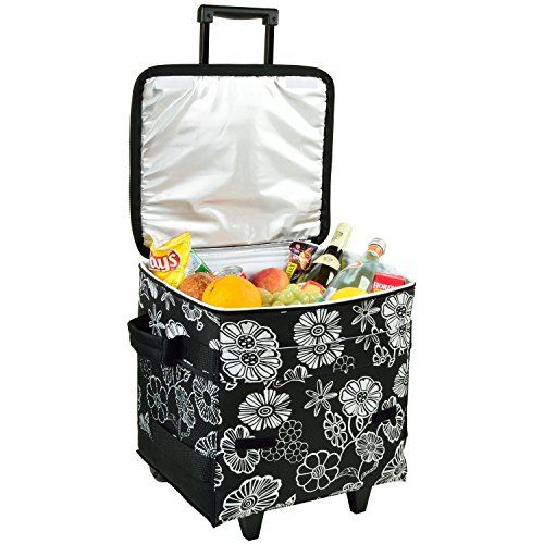 Picnic at Ascot 60 Can Collapsible Insulated Rolling Cooler  Night Bloom >>> Read more reviews of the product by visiting the link on the image.