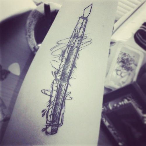 my fountain pen tattoo done by Donald Patacsil - work in ...